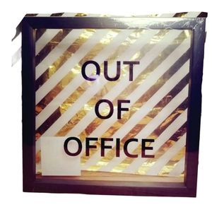 Out Of Office Wall Desk Home Work Sign Decor Art
